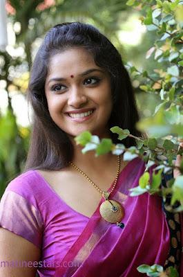 Keerthi suresh in saree blouse