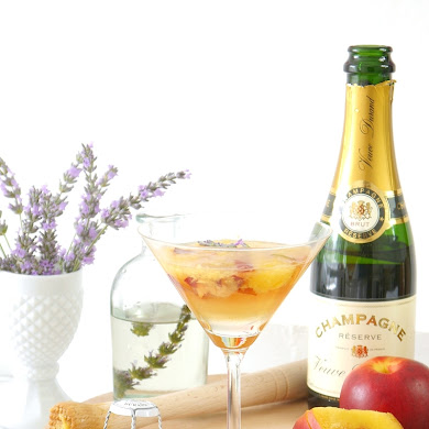Lavender & Peach Champagne Cocktail Recipe