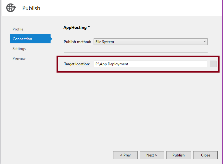 Publishing ASP NET MVC Application Using File System