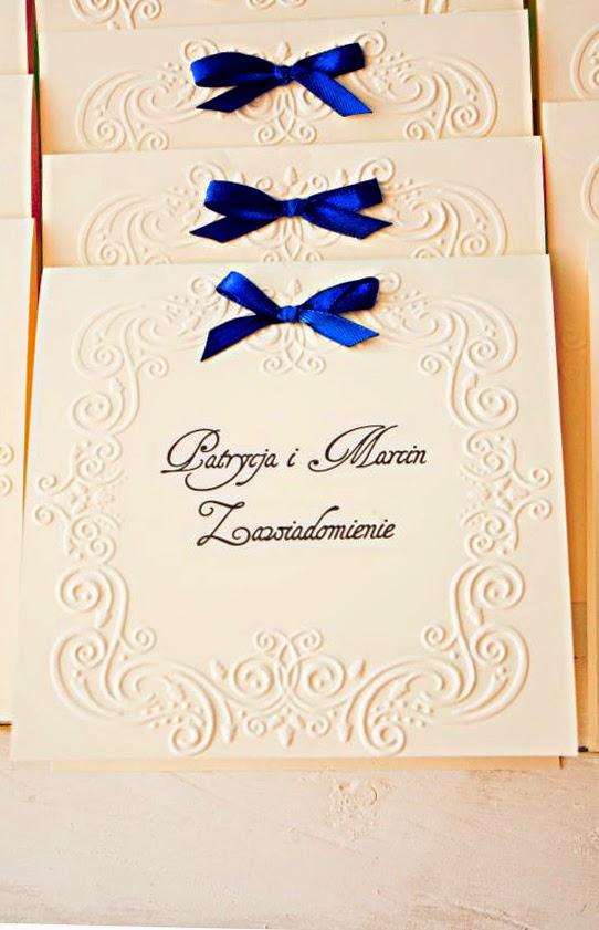 Koronkowe zaproszenie ślubne