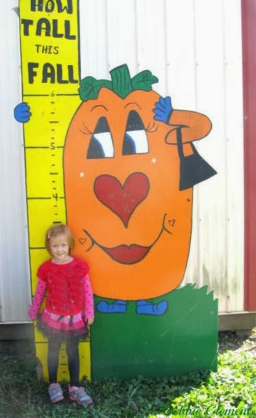 """How Tall this Fall"" Growth Chart at the Pumpkin Patch via RainbowsWithinReach"