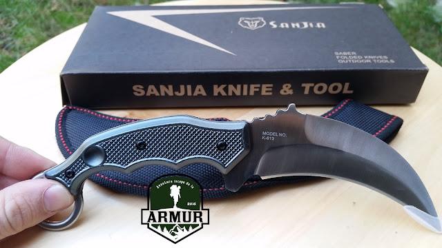 Cutit Karambit SANJIA Knife & Tool Lama Full Tang