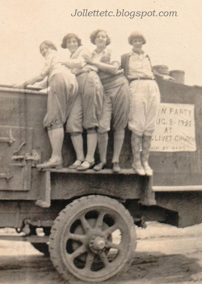 Virginia Cole and friends July 1925