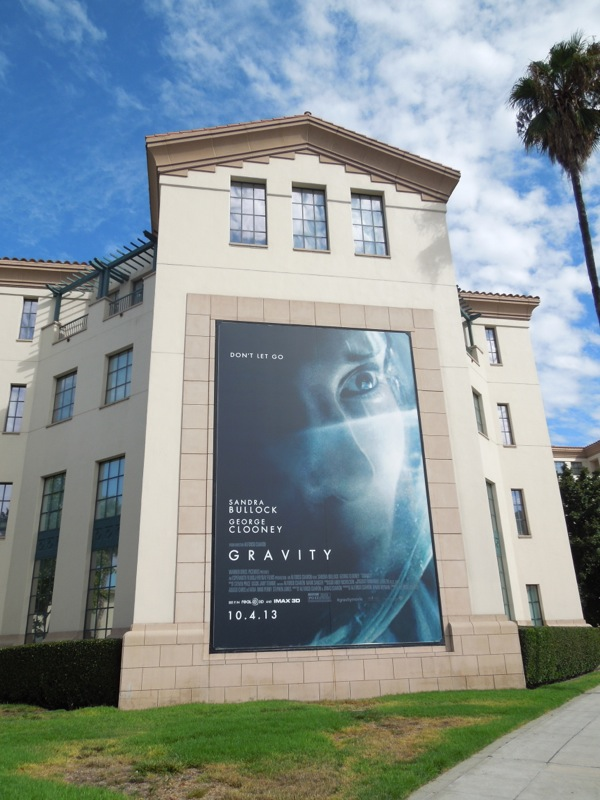 Gravity movie billboard WB Studios Burbank