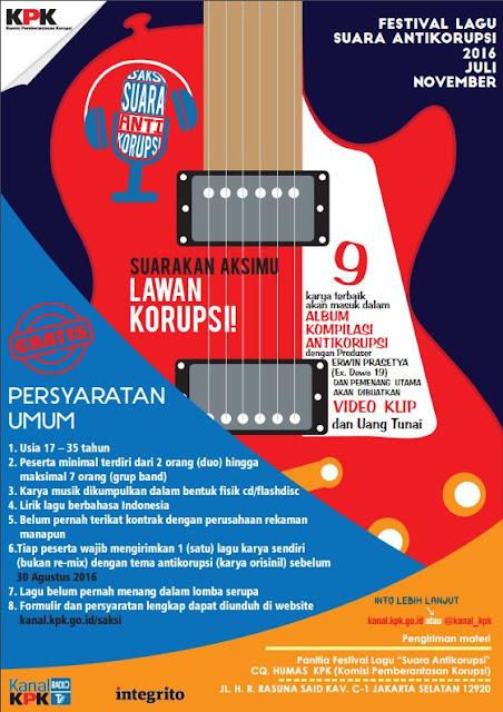 Festival Lagu Suara Anti Korupsi 2016