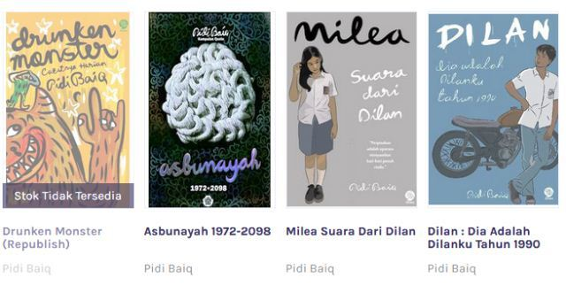 Download Buku (Ebook Gratis) Karya Pidi Baiq PDF Lengkap