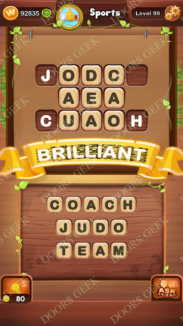 Word Bright Level 99 Answers, Cheats, Solutions, Walkthrough for android, iphone, ipad and ipod