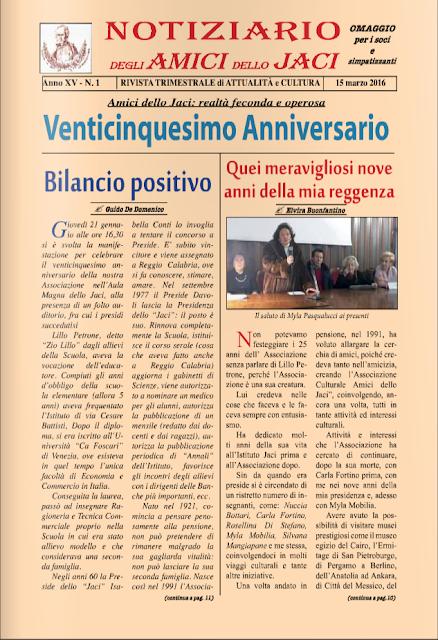 Notiziario Amici Dello Jaci 15 Marzo 2016