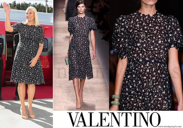Crown Princess Mette-Marit wore Valentino dress from Spring 2013 Ready to Wear Collection