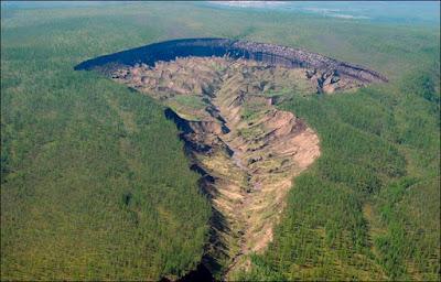 Cambiamenti climatici alimentano porta del inferno