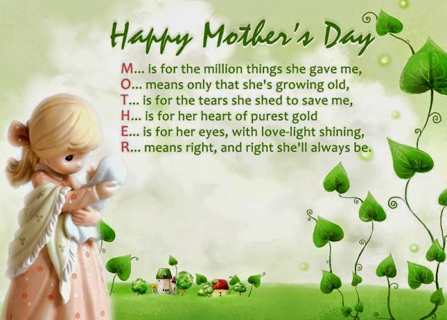 Mother's day 2017 card sentiments quotes sayings from daughter son