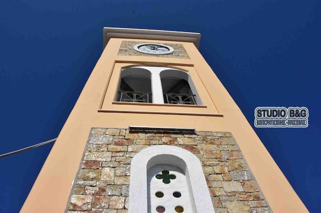 Εγκαινιάστηκε το νέο κωδωνοστάσιο στον Ιερό Ναό του Αγίου Ιωάννη του Προδρόμου στο Κιβέρι Αργολίδας (βίντεο)