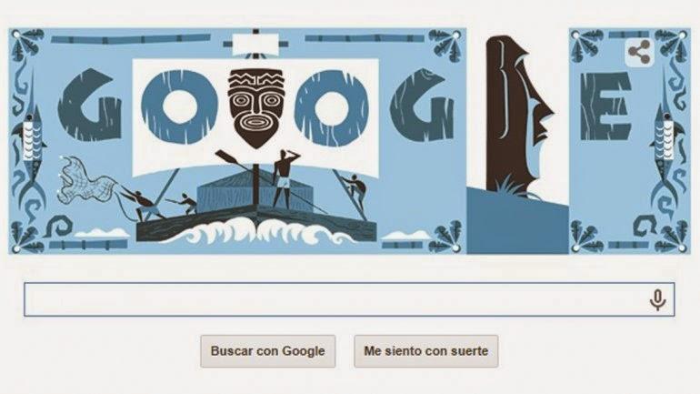 Doodle de Google centenario del nacimiento de Thor Heyerdahl