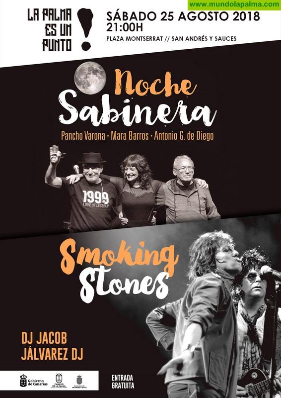 El ciclo 'La Palma es un punto' lleva este sábado a San Andrés y Sauces los conciertos tributo a Joaquín Sabina y Los Rolling Stones
