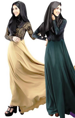 maxi dress muslimah