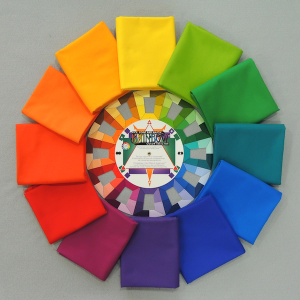color theory, color study, fabric color wheel, rainbow colors