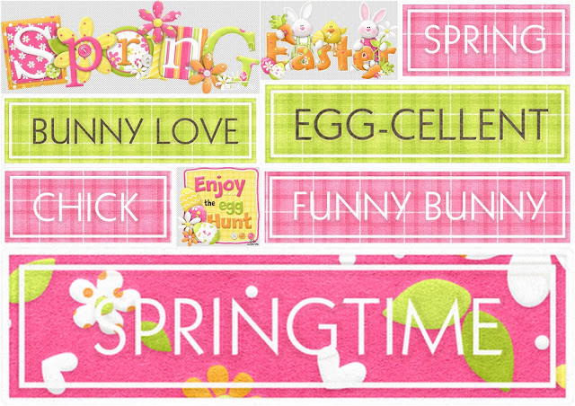 Signs of the Spring Easter Clip Art.