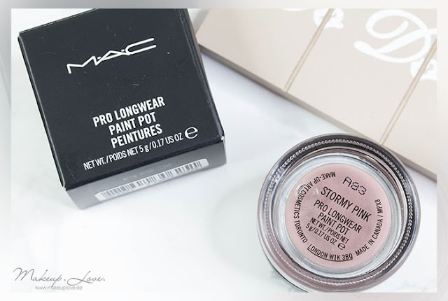 MAC Pro Longwear Paint Pot 'Stormy Pink' | Review + Look