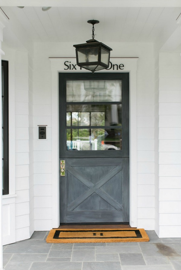 gray front door, front entrance, front door