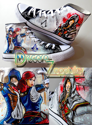ASSASSINS CREED CUSTOM SHOES FANART