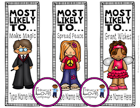 End of the Year Award Bookmarks are the awards students treasure long after the last school bell!  Every time they open their books they will be reminded of their school year with you!