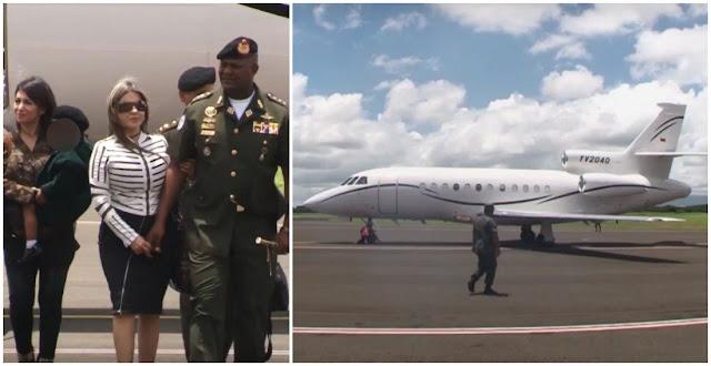General Chourio viajó a Nicaragua en avión que estaría rastreado por la DEA (Fotos y video)