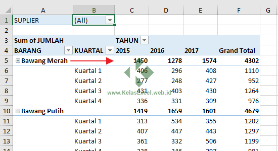 Outline Form Layout Pivot Table
