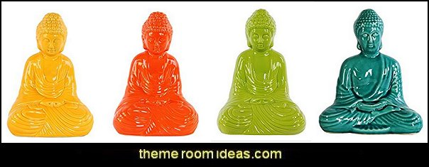 Gloss Ceramic Meditating Buddha  exotic bedroom decorating ideas - exotic global style decorating - exotic decor - exotic style furnishings - tropical theme decorating - Moroccan style  Arabian nights - Egyptian theme decorating - Oriental bedrooms - global bazaar themed  - I dream of Jeannie theme bedrooms - exotic design far east furnishings Exotic bedroom decor‎ - Ethnic style decorating ideas - Ethnic style furnishings - Boho style