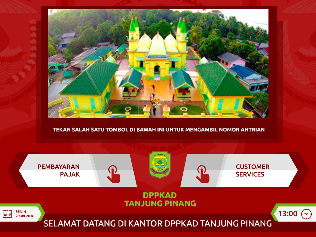 Ticketing mesin antrian DPPKAD Tanjungpinang