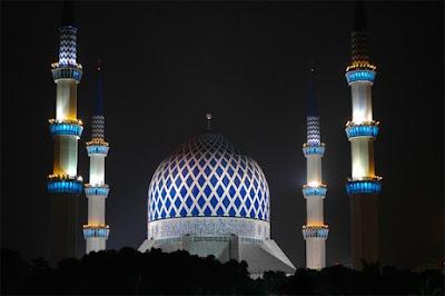 Tempat menarik di selangor waktu malam masjid sultan salahudin