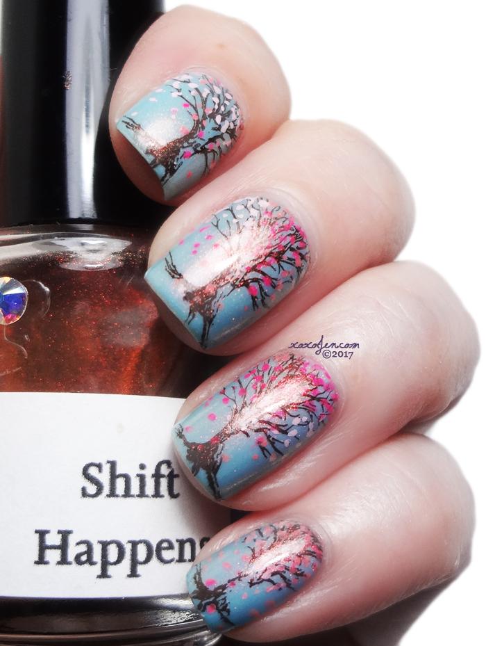 xoxoJen's swatch of Girly Bits Stump Up the Jam stamping art