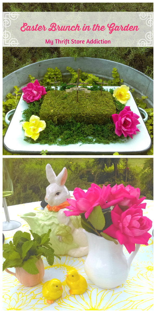 Simply elegant Easter brunch in the garden