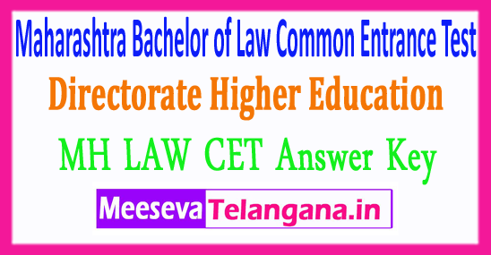 Maharashtra Bachelor of Laws Common Entrance Test MH LAW CET Answer Key 2018 Download