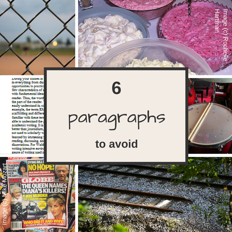 6 paragraph types to avoid