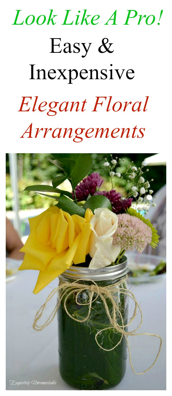 Easy and Inexpensive DIY Floral Arrangements