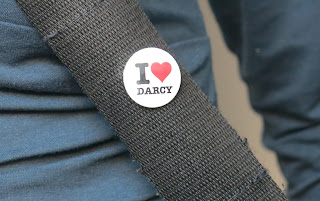 """I love Mr Darcy"" badge"