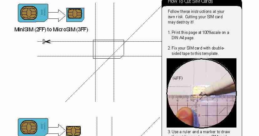 iPhone 5 How To Convert Micro SIM Card into Nano SIM Card - micro sim template