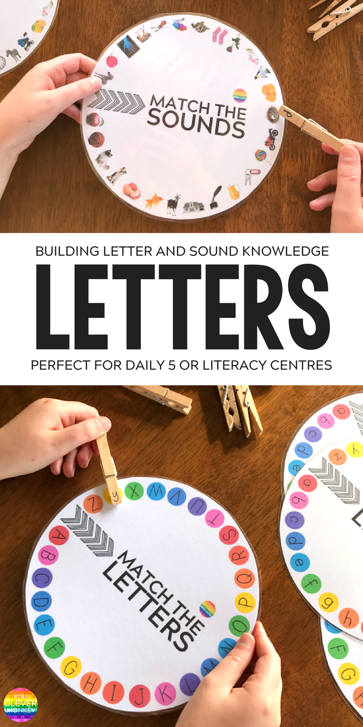Letter and Initial Sound Printable Wheels | you clever monkey