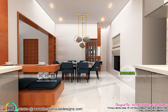 Open Kitchen and dining interior