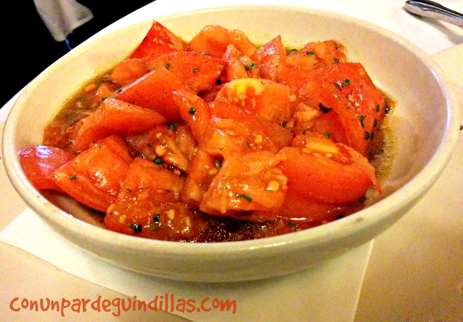 Ensalada de tomates feos, restaurante Sacha