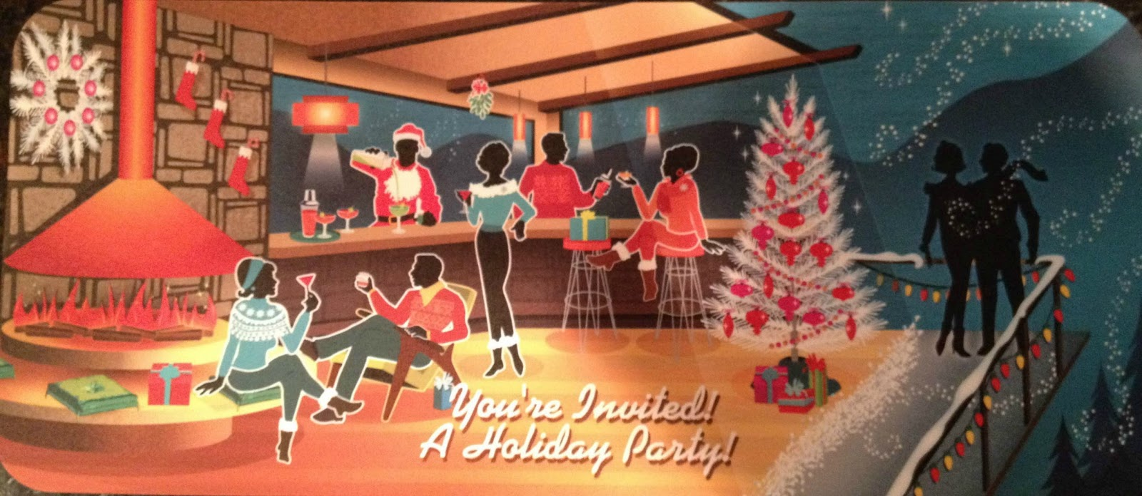 Atomic monster cafe december 2015 one of my favorite christmas cards this year was actually an invitation to the work christmas party m4hsunfo