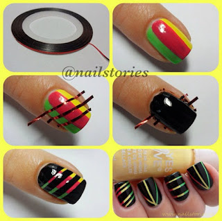 Nail Art yang colourfull
