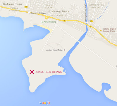 Padang Pasir Klebang Melaka Location Map - Search for 'Muzium Kapal Selam' to go to that area