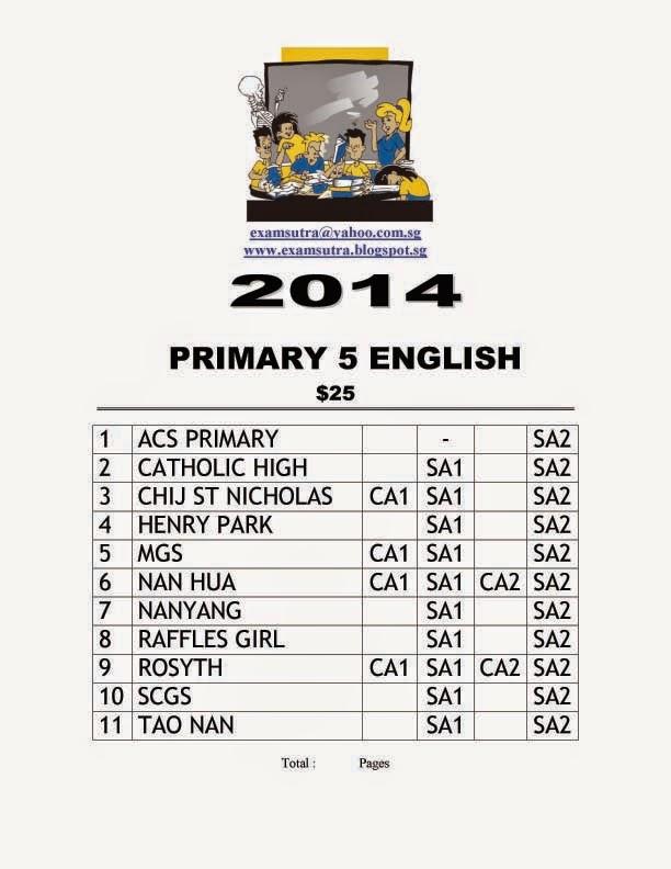 Top School Exam Papers: Top School Exam Paper 2014- Pri 5