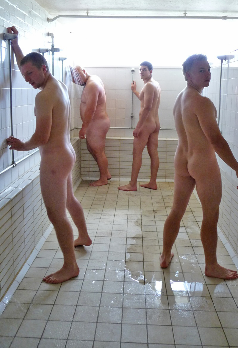 Naked Male Shower