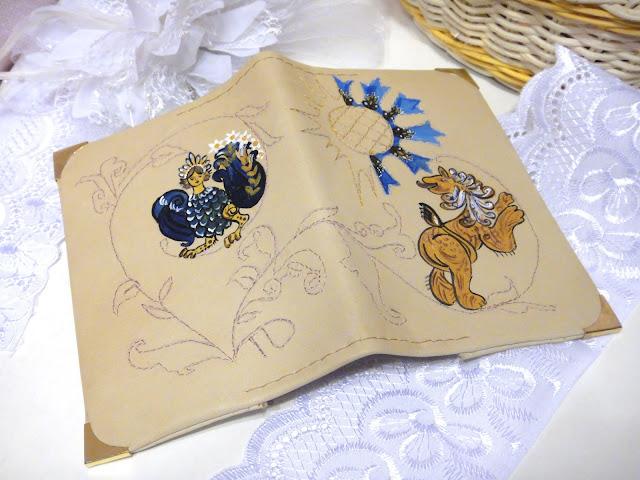 Комплект в русском стиле: птица Сирин и Лев - символ мудрости