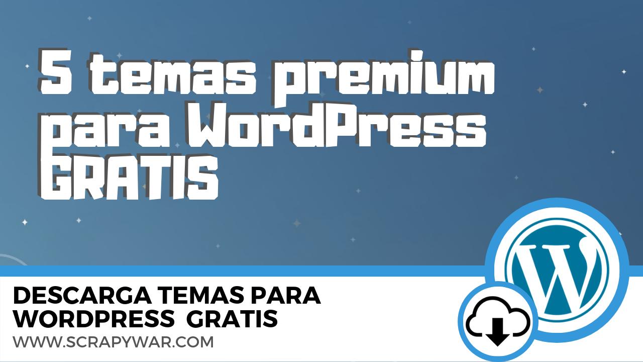 Los 5 mejores temas premium para WordPress en 2019