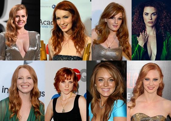 Kızıl Saçlı Yabancı Ünlü Kadınlar