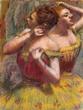 Two Dancers by Edgar Degas - Theatre Paintings from Hermitage Museum
