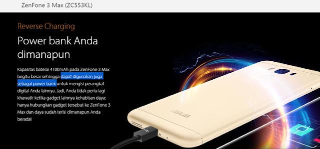 baterai ZenFone 3 Max (ZC553KL) berkapasitas besar (4100mAh)